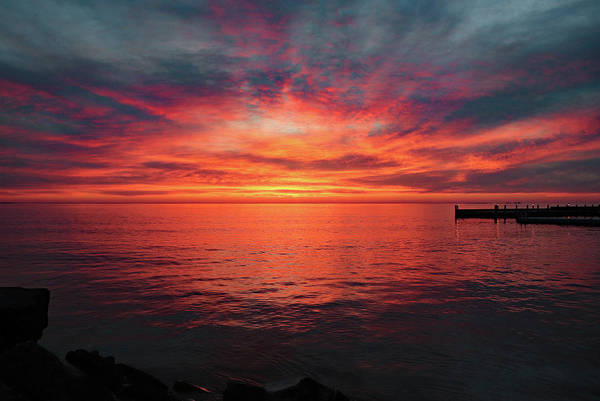 Photograph - Door County Sunset 2 by David T Wilkinson