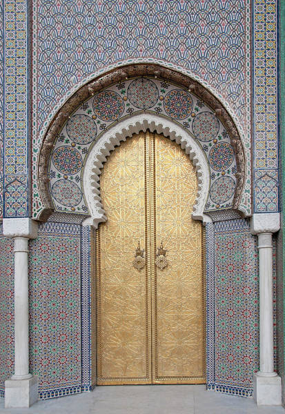 Handle Photograph - Door Of The Royal Palace, Fez, Morocco by Korhan Sezer