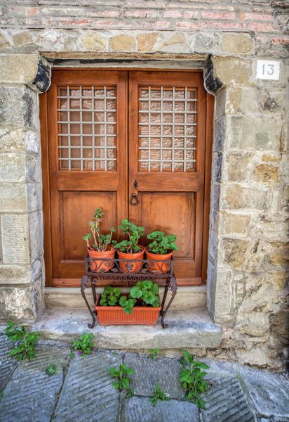 Sketch Holiday Photograph - Door Thirteen Of Tuscany by David Letts