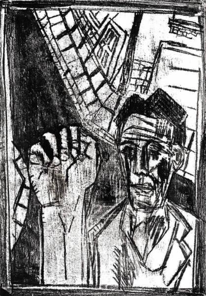 Drawing - Door To Door Salesman by Artist Dot