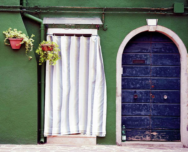 Patio Photograph - Door With Drapery. Color Image by Claudio.arnese