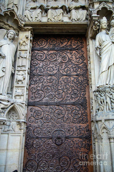 Wall Art - Photograph - Doors Cathedrale Notre Dame De Paris France Before Fire by Wayne Moran