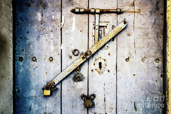 Photograph - Doors Of India - Blue Door Detail 1 by Miles Whittingham