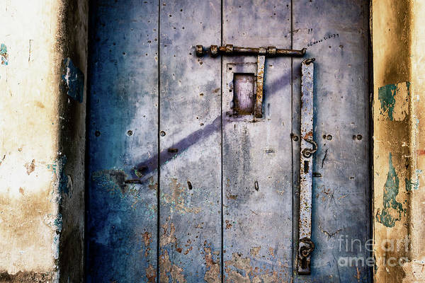 Photograph - Doors Of India - Blue Door Detail 2 by Miles Whittingham