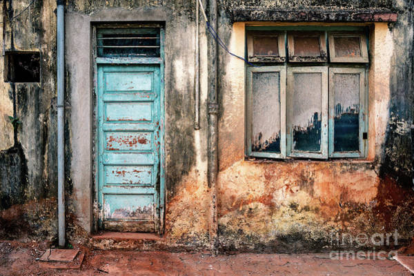 Photograph - Doors Of India - Faded Blue Door by Miles Whittingham