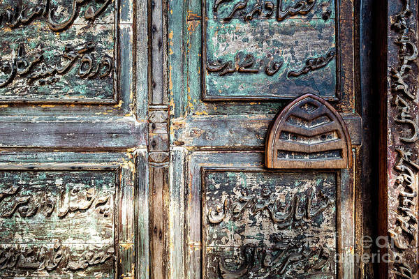 Photograph - Doors Of India - Green Temple Door by Miles Whittingham
