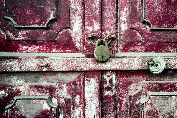 Photograph - Doors Of India - Red Door Detail by Miles Whittingham