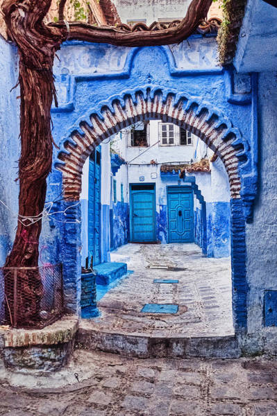 Photograph - Doors Through The Archway - Morocco by Stuart Litoff
