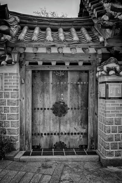 Photograph - Doorway In Bukchon In Black And White by Rick Berk
