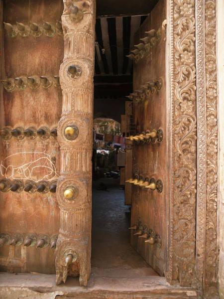Wood Carving Photograph - Doorway In Stone Town, Zanzibar by Helovi