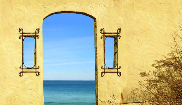 Plaster Photograph - Doorway To The Sea by Titaniumdoughnut