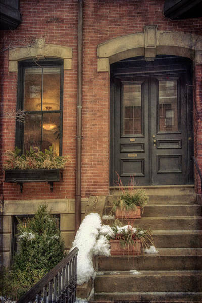 Photograph - Doorways In Winter - Beacon Hill by Joann Vitali