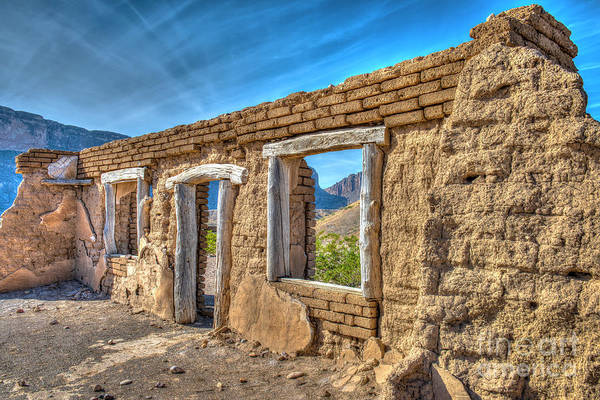 Wall Art - Photograph - Dorgan House Ruins by Charles Dobbs