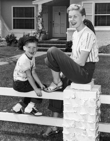 Child Actress Wall Art - Photograph - Doris Day With Terry by Hulton Archive