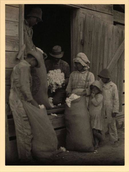 Wall Art - Painting - Doris Ulmann  1882-1934 , Barefoot Boy And Girl Standing Behind Woman And Three Men In Doorway With by Doris Ulmann