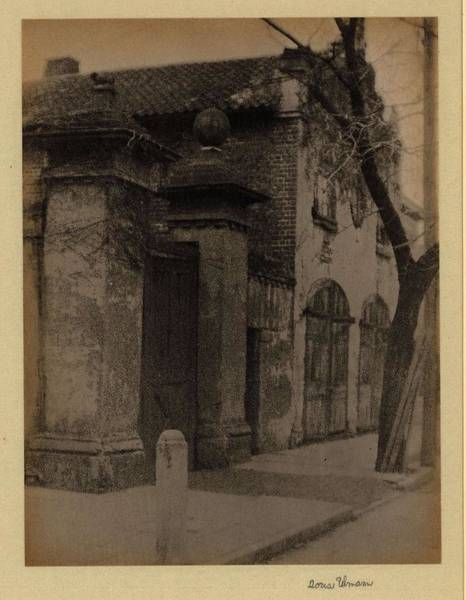 Wall Art - Painting - Doris Ulmann   1882-1934 , Brick And Stone Building With Two Arched Wooden Doors, Tiled Roof, And Ga by Celestial Images