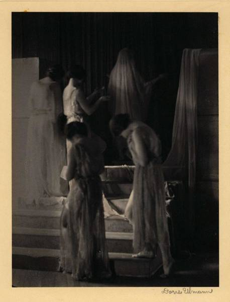 Wall Art - Painting - Doris Ulmann   1882-1934 , Dancers In Company  Five Dancers In Classical Garb, Ascending Steps With  by Doris Ulmann