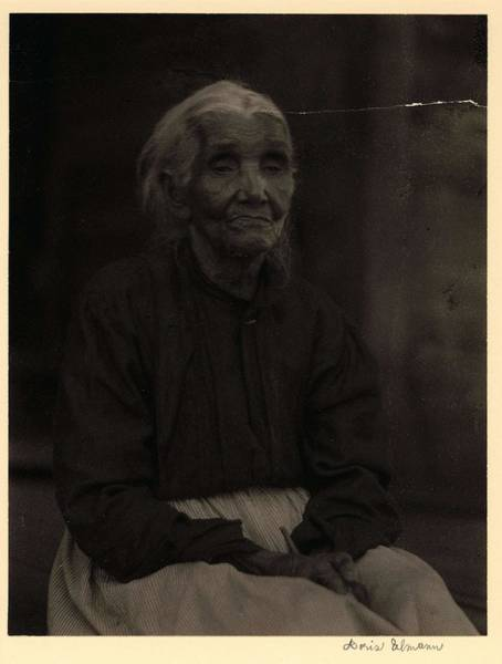 Wall Art - Painting - Doris Ulmann   1882-1934 , Elderly Black Woman In Blouse And Skirt, Seated by Celestial Images