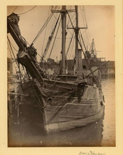 Wall Art - Painting - Doris Ulmann   1882-1934 , Head-on View Of Ship With Carvings On The Front In Harbor by Doris Ulmann