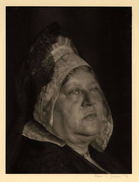 Wall Art - Painting - Doris Ulmann   1882-1934 , Head Shot Of Woman In Mantilla. Ca. 1918-25. by Doris Ulmann