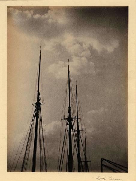 Wall Art - Painting - Doris Ulmann   1882-1934 , Masts  Masts Of Ships Outlined Against Sky by Doris Ulmann