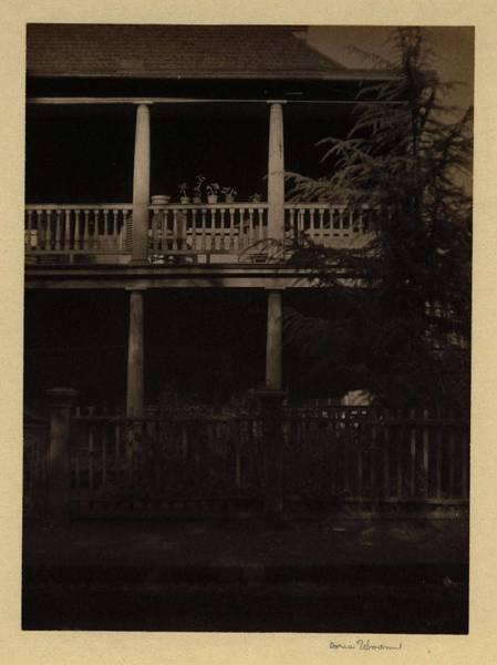 Wall Art - Painting - Doris Ulmann  1882-1934, 2-story Porch With Flower Pots, Charleston, Sc by Doris Ulmann