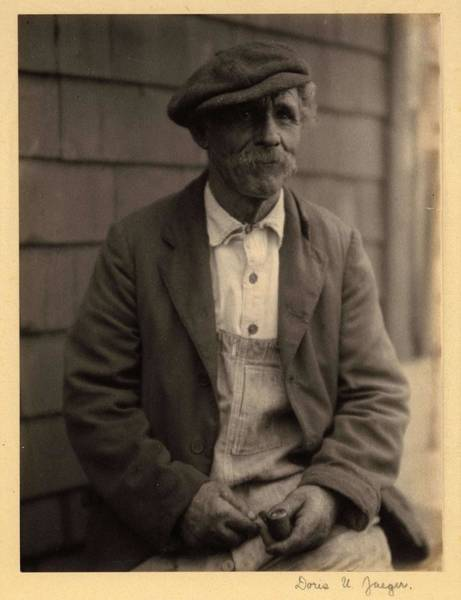 Wall Art - Painting - Doris Ulmann   1882-1934 Elderly Man With Mustache, In Hat, Coat, And Overalls, Seated In Front Of by Doris Ulmann