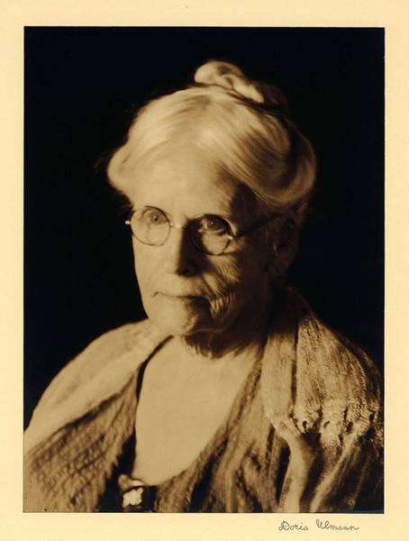 Wall Art - Painting - Doris Ulmann   1882-1934 Head Shot Of Elderly Woman In Glasses And Shawl, With Hair Piled On Top O by Doris Ulmann