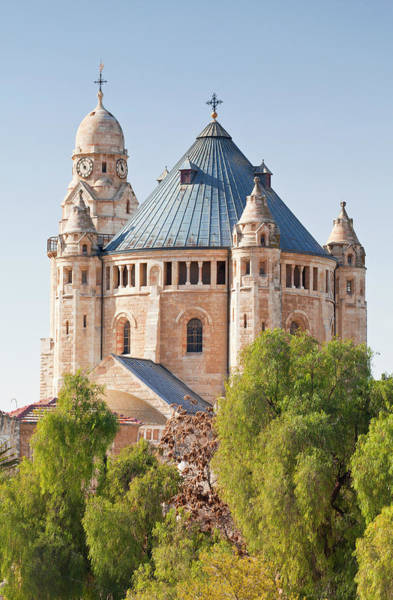 The Clock Tower Photograph - Dormition Abbey Hagia Maria Sion Abbey by Gavin Hellier / Robertharding