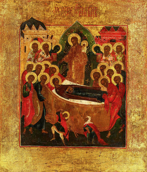 Wall Art - Painting - Dormition And The Elevation Of The True Cross, Russia, 19th Century by Unknown