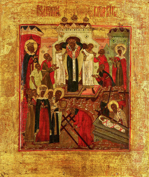 Wall Art - Painting - Dormition And The Elevation Of The True Cross, Russia by Unknown