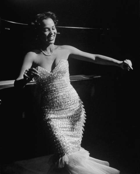Night Photograph - Dorothy Dandridge by Ed Clark