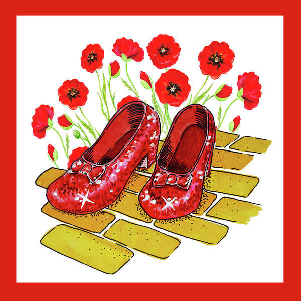 Wall Art - Painting - Dorothy Ruby Slippers Wizard Of Oz by Irina Sztukowski