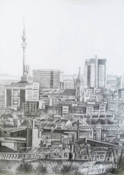 Wall Art - Drawing - Dortmund City- Germany by Mohammad Hayssam Kattaa