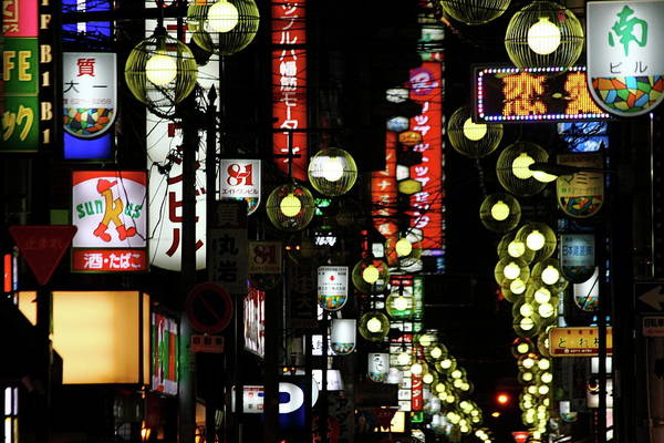Japanese Culture Photograph - Dotonbori Night Life District by Photography By Simon Bond