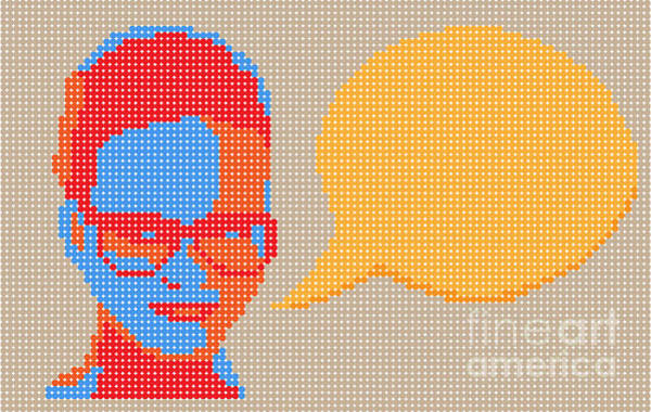 Thoughts Wall Art - Digital Art - Dotted Pop Art Vector Illustration by Donatas1205