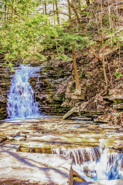 Aira Wall Art - Photograph - Double Cascade Waterfalls by Chic Gallery Prints From Karen Szatkowski