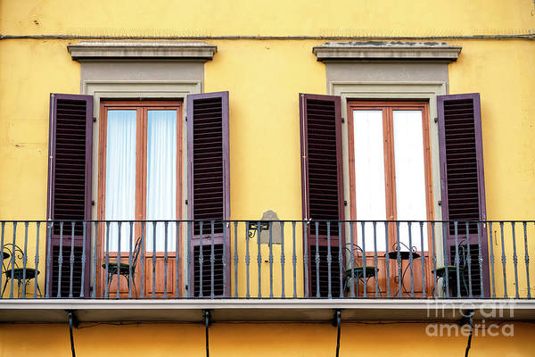 Photograph - Double Doors On The Balcony At Piazza Della Signoria In Florence by John Rizzuto