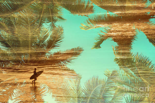 Wall Art - Photograph - Double Exposure Surfer by Delphimages Photo Creations