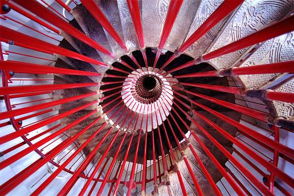 Ljubljana Wall Art - Photograph - Double Helix Spiral Stair by Tristan Savatier