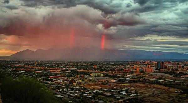 Photograph - Double Rainbow Over Tucson  by Chance Kafka