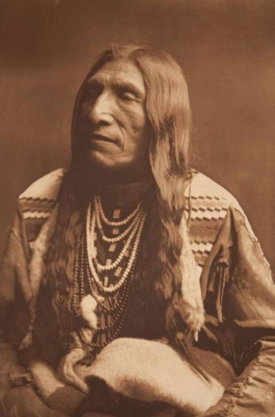 Painting - Double Runner  Piegan By Edward Sheriff Curtis by Celestial Images