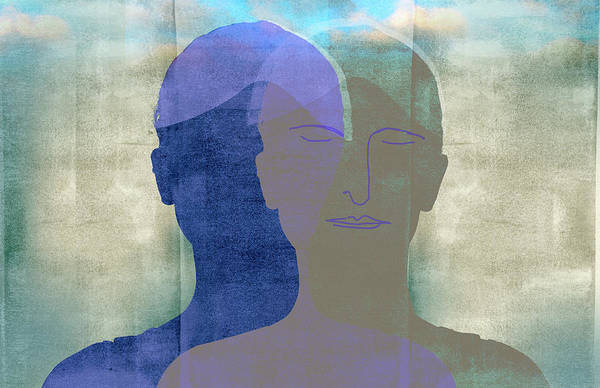 Wall Art - Photograph - Double Silhouette Of Woman Meditating by Ikon Images