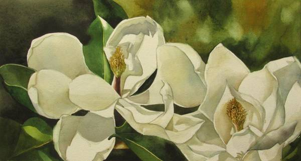 Painting - Double White Magnolia by Alfred Ng