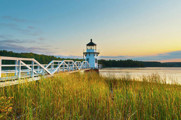 Wall Art - Photograph - Doubling Point Light, Maine, New by Alan Copson / Robertharding