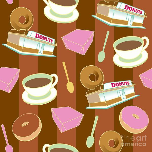 Fashion Plate Digital Art - Doughnut_wallpaper_f2 by Shaun Newton