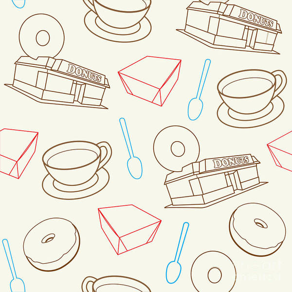 Fashion Plate Digital Art - Doughnut_wallpaper_f3 by Shaun Newton