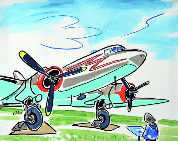 Wall Art - Painting - Douglas Dc-3 by Kevin Cameron