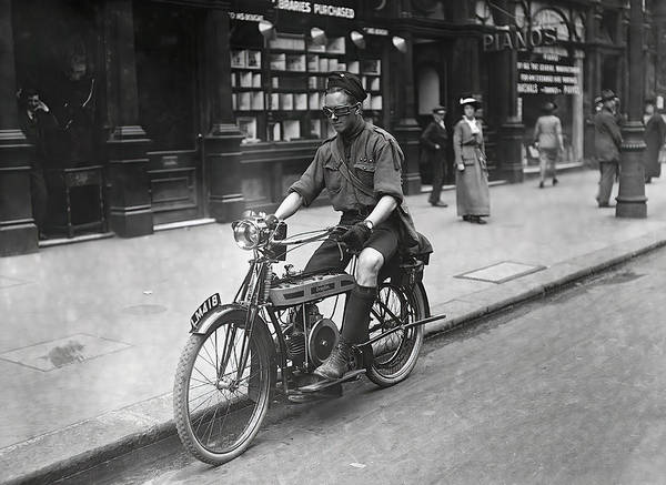 Wall Art - Photograph - Douglas Motorcycle - London 1908 by Daniel Hagerman