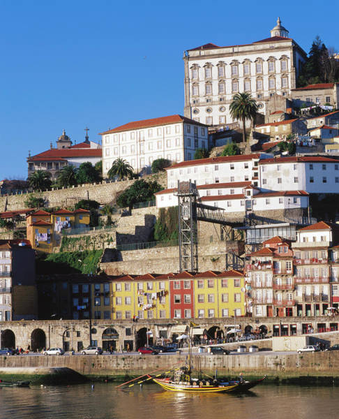 Douro Wall Art - Photograph - Douro River, Ribeira Area And Cathedral by Brent Winebrenner